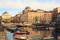 Trieste view of canal grande in italy Stock Images