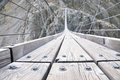 Trift bridge switzerland the longest m pedestrian only suspension in the alps Royalty Free Stock Photography