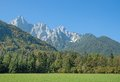 Triglav mountain slovenia view to a landmark of Royalty Free Stock Photography