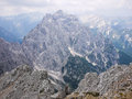 Triglav in slovenia view of north face of Stock Image