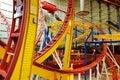 Trilhas do roller coaster na alameda ocidental de edmonton Fotos de Stock Royalty Free