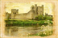 Trim castle trim ireland the county meath vintage style series Royalty Free Stock Images