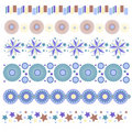 Trim collection with stars, circles and flowers Stock Image