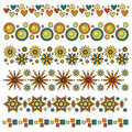 Trims with hearts, circles, flowers and stars Stock Photos