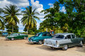 TRINIDAD, CUBA - DECEMBER 11, 2014: Old classic American car par Royalty Free Stock Photo