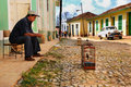 Trinidad street, Cuba. OCT 2008 Royalty Free Stock Photos