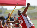 Trinidad Tobago Man Javelin Throw Stock Image
