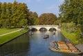 Trinity Bridge in Cambridge Royalty Free Stock Photo