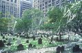 Trinity church cemetery after ticker tape parade new york city new york Royalty Free Stock Image