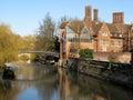 Trinity Hall, Cambridge University on River Cam Royalty Free Stock Photo