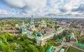 Trinity Lavra of St. Sergius - aerial view Royalty Free Stock Photo