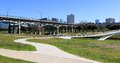 Trinity Trails Park Skyline, Fort Worth Texas Royalty Free Stock Photo