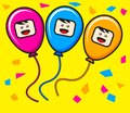 Trio ballon Royalty Free Stock Photos
