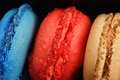 Trio des macarons Photo stock