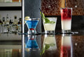 Trio of Mixed Drinks Royalty Free Stock Photo