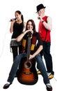 Trio musicale Fotografia Stock Libera da Diritti