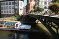 Trip by boat, Strasbourg, Alsace, France Stock Photos
