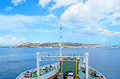The trip la maddalena sardinia september only way to get city of la maddalena on archipelago maddalena is ferry or ship Stock Photography