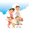 Trip summer in families memory good friend Royalty Free Stock Photo
