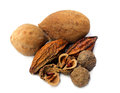Triphala-a combination of ayurvedic fruits Royalty Free Stock Photo