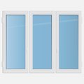 Triple casement plastic window vector illustration Stock Photo