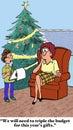 Triple the Christmas Budget