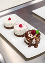 Triple cream dessert Stock Photo