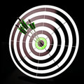 Triple Dart Shows Winning Shot And Achievement Royalty Free Stock Photography