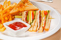Triple decker club sandwich Stock Photography