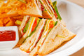 Triple decker club sandwich Royalty Free Stock Photography