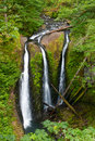 Triple Falls Waterfall in the Columbia River Gorge Royalty Free Stock Photo