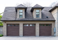 Triple garage detached and two dormers Royalty Free Stock Photos