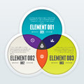 Triple intersect infographic vector illustration of design element Royalty Free Stock Photo