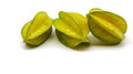 Triple star fruit on white background Royalty Free Stock Photo