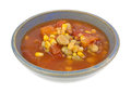 Triple Succotash In Bowl Side View Royalty Free Stock Photo