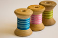 Triple Thread Reels Royalty Free Stock Photo