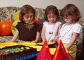 Triplets Birthday Royalty Free Stock Photography