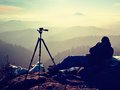 Tripod On Peak Ready For Photo...
