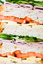 A tripple decker sandwiches Stock Image