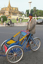 Trishaw in Phnom Penh Royalty Free Stock Photography