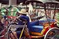 The Trishaw Rider Royalty Free Stock Photo
