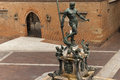 Triton Fountain in Bologna Italy Royalty Free Stock Photos