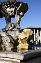 Triton fountain in Rome Royalty Free Stock Images