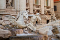 Triton and Horse, Trevi Fountain, Rome, Italy Stock Photography