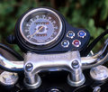 Triumph instrument panel Stock Photo