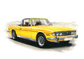 Triumph Stag (Late) MkII Royalty Free Stock Photo