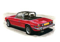 Triumph stag mkii illustration of a mark ii Royalty Free Stock Photos