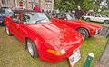 Triumph tr sports car on show at motormania held on st september at grantown on spey Royalty Free Stock Photos