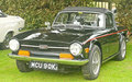 Triumph TR6 Sports car at Fortrose.. Stock Image