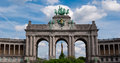Triumphal Arc, Parc du Cinquantenaire, Bruxelles Royalty Free Stock Photo